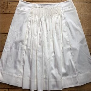 NEW WITH TAG Elie Tahari White Soft Cotton Skirt